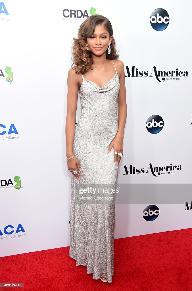 Singer Zendaya attends the 2016 Miss America Competition at Boardwalk Hall Arena on September 13 2015 in Atlantic City New Jersey