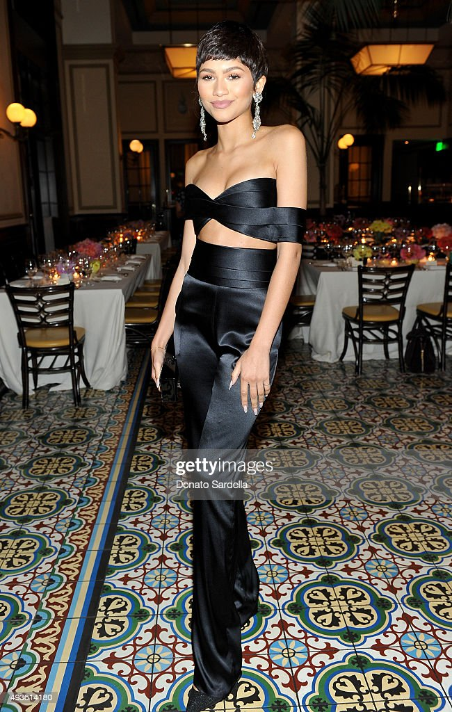 Singer Zendaya attends the CFDA/Vogue Fashion Fund Dinner at Bouchon Beverly Hills on October 20 2015 in Beverly Hills California
