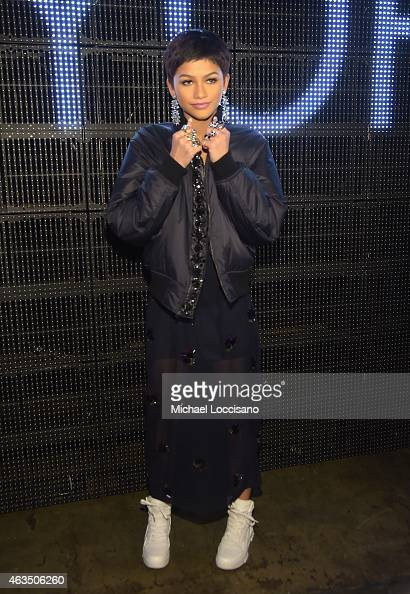 Singer Zendaya attends the DKNY fashion show during MercedesBenz Fashion Week Fall 2015 on February 15 2015 in New York City