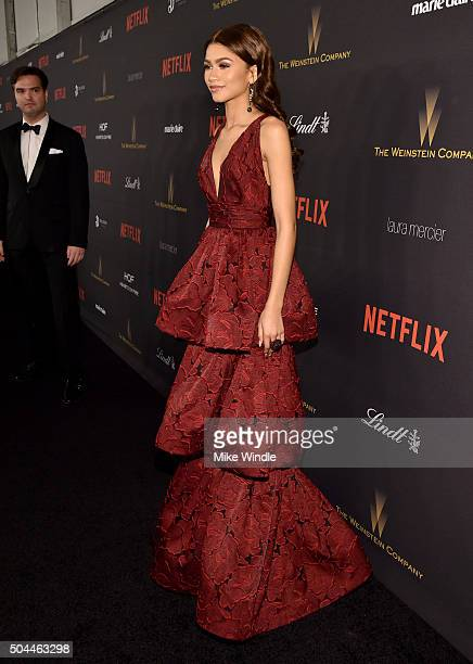 Singer Zendaya attends The Weinstein Company and Netflix Golden Globe Party presented with DeLeon Tequila Laura Mercier Lindt Chocolate Marie Claire...