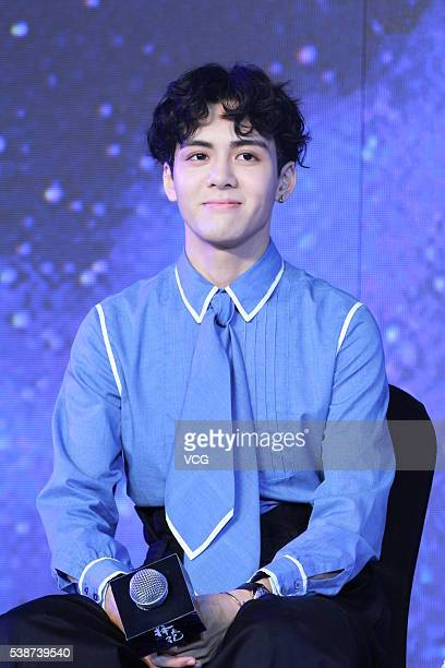 Singer Zeng Shunxi attends the booting ceremony of Chinese TV series Fighter Of The Destiny at 22nd Shanghai TV Festival on June 7 2016 in Shanghai...