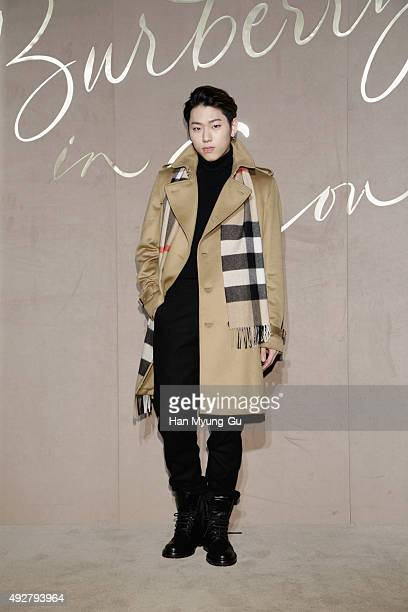 Singer Zico of Black B attends the Burberry Seoul Flagship Store Opening Event on October 15 2015 in Seoul South Korea