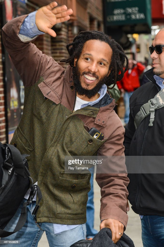 Singer Ziggy Marley enters the 'Late Show With David Letterman' taping at the Ed Sullivan Theater on April 29 2014 in New York City