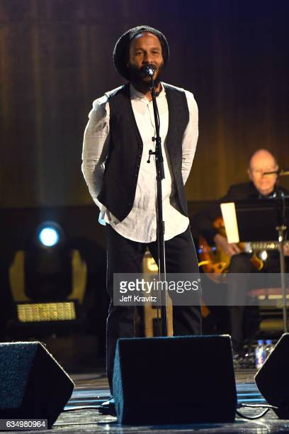 Singer Ziggy Marley performs onstage at the Premiere Ceremony during the 59th GRAMMY Awards at Microsoft Theater on February 12 2017 in Los Angeles...