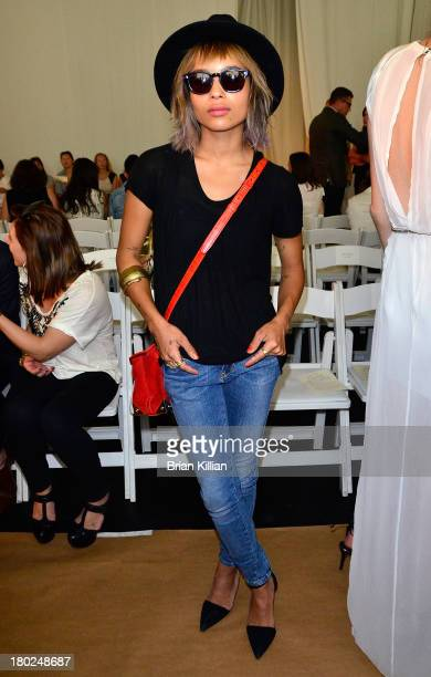 Singer Zoe Kravitz attends the Sass Bide show during Spring 2014 MercedesBenz Fashion Week at Classic Car Club on September 10 2013 in New York City