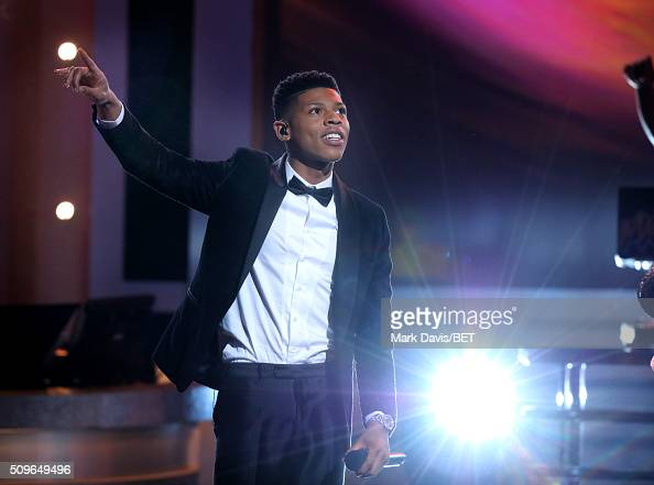 Singer/actor Bryshere Y Gray performs onstage during BET Celebration Of Gospel 2016 at Orpheum Theatre on January 9 2016 in Los Angeles California