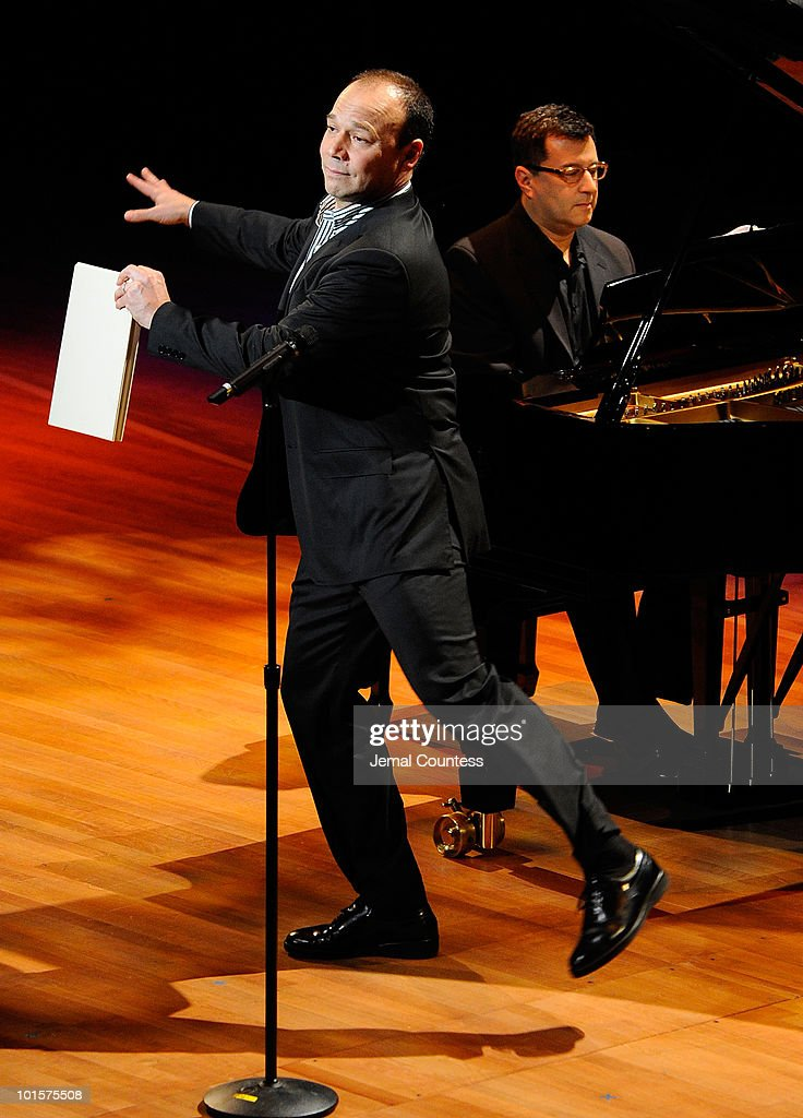 Singer/actor Danny Burstein performs during the 2010 World Science Festival Opening Night Gala at Alice Tully Hall, Lincoln Center on June 2, 2010 in New York City.