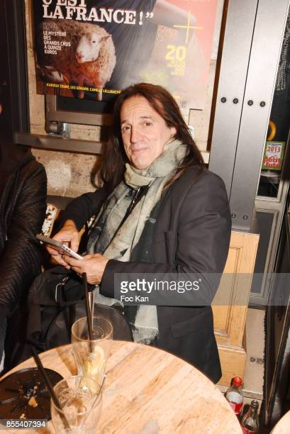 Singer/actor Francis Lalanne attends the 'Apero Gouter' Cocktail Hosted by Le Grand Seigneur Magazine at Bistrot Marguerite on September 28 2017 in...