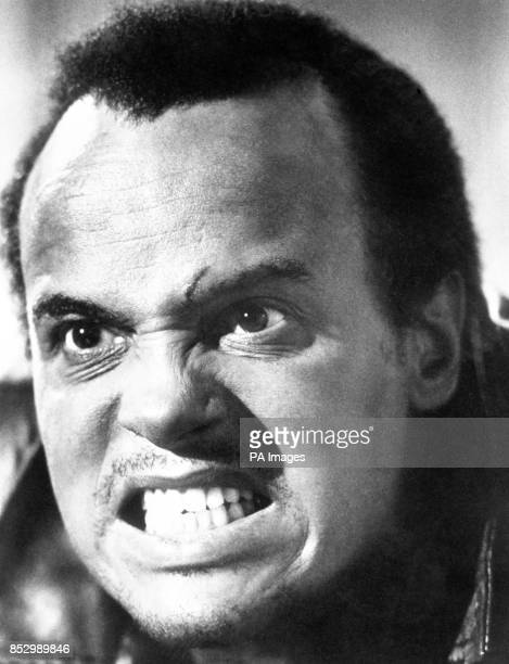 Singeractor Harry Belafonte the 45year old West Indian from New York's Harlem district looks like an avenging angel This is a moment from film 'The...