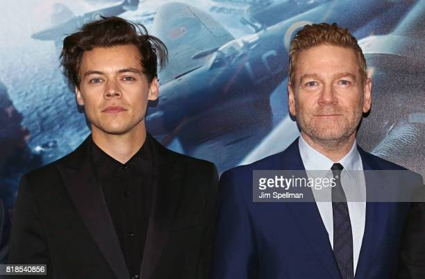 Singer/actor Harry Styles and actor/director Kenneth Branagh attend the 'DUNKIRK' New York premiere at AMC Lincoln Square IMAX on July 18 2017 in New...