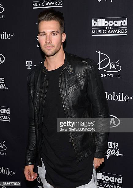 Singer/actor James Maslow arrives at the official Billboard Music Awards after party at Drai's Beach Club Nightclub at The Cromwell Las Vegas on May...