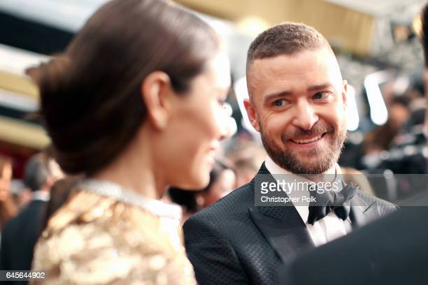 Singer/actor Justin Timberlake and actor Jessica Biel attend the 89th Annual Academy Awards at Hollywood Highland Center on February 26 2017 in...