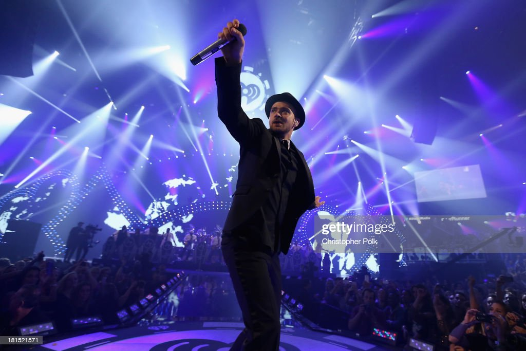 Singer/actor <a gi-track='captionPersonalityLinkClicked' href=/galleries/search?phrase=Justin+Timberlake&family=editorial&specificpeople=157482 ng-click='$event.stopPropagation()'>Justin Timberlake</a> performs onstage during the iHeartRadio Music Festival at the MGM Grand Garden Arena on September 21, 2013 in Las Vegas, Nevada.