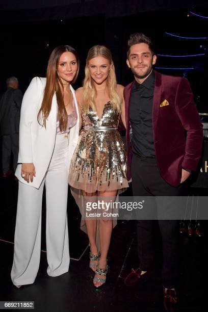 Singer/actor Katharine McPhee singers Kelsea Ballerini and Thomas Rhett attend 'Stayin' Alive A GRAMMY Salute To The Music Of The Bee Gees' on...
