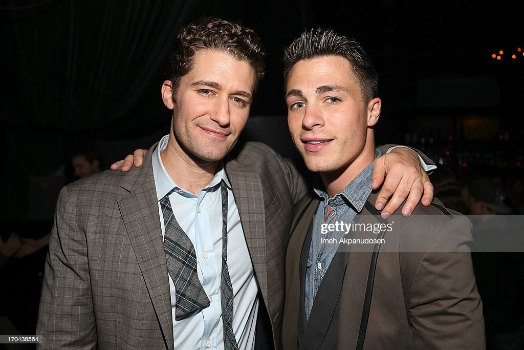 Singer/actor <a gi-track='captionPersonalityLinkClicked' href=/galleries/search?phrase=Matthew+Morrison&family=editorial&specificpeople=171674 ng-click='$event.stopPropagation()'>Matthew Morrison</a> (L) and actor <a gi-track='captionPersonalityLinkClicked' href=/galleries/search?phrase=Colton+Haynes&family=editorial&specificpeople=4282136 ng-click='$event.stopPropagation()'>Colton Haynes</a> attend <a gi-track='captionPersonalityLinkClicked' href=/galleries/search?phrase=Matthew+Morrison&family=editorial&specificpeople=171674 ng-click='$event.stopPropagation()'>Matthew Morrison</a>'s performance at The Sayers Club on June 12, 2013 in Hollywood, California.