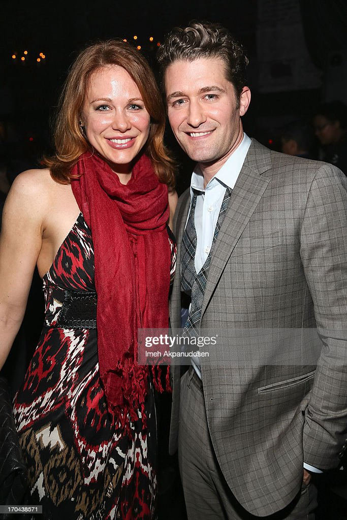 Singer/actor Matthew Morrison (R) and actress Maitland Ward attend Matthew Morrison's performance at The Sayers Club on June 12, 2013 in Hollywood, California.