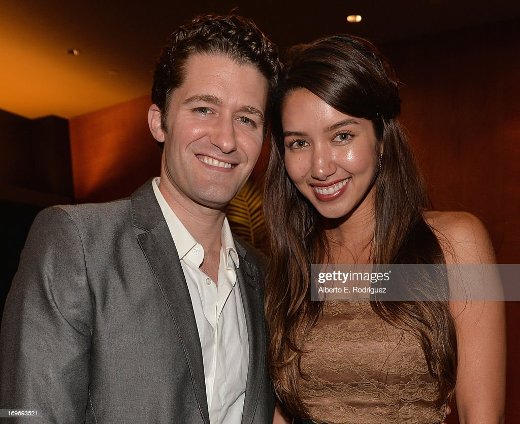 Singer/actor Matthew Morrison and Renee Puente attend a Screening Of Matthew Morrison's PBS Special 'Matthew Morrison Where It All Began Live From...