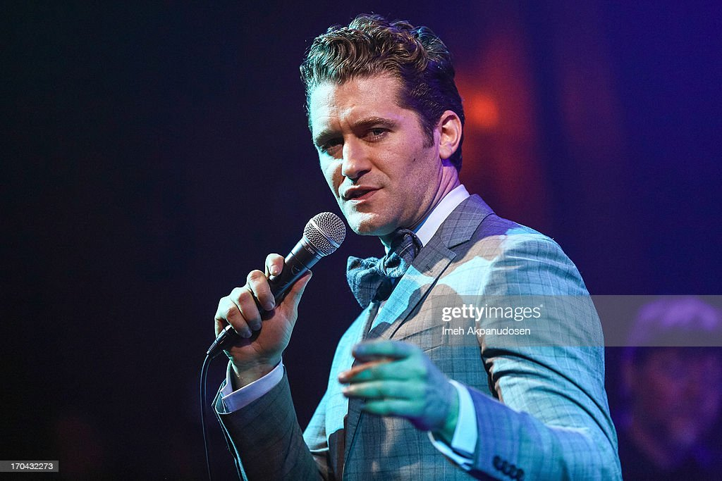 Singer/actor Matthew Morrison performs at The Sayers Club on June 12 2013 in Hollywood California