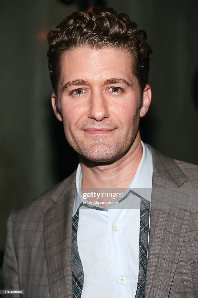 Singer/actor Matthew Morrison poses backstage after his performance at The Sayers Club on June 12, 2013 in Hollywood, California.