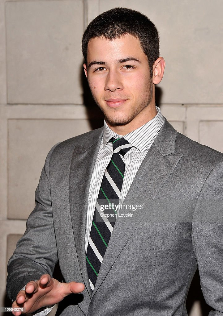 Singer/actor Nick Jonas attends the 'Cat On A Hot Tin Roof' Opening Night at Richard Rodgers Theatre on January 17, 2013 in New York City.