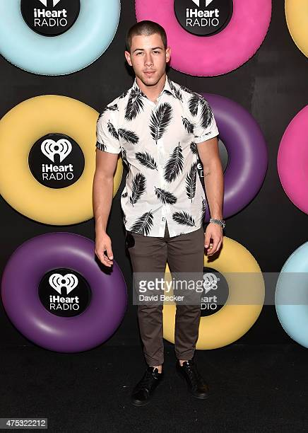 Singer/actor Nick Jonas attends The iHeartRadio Summer Pool Party at Caesars Palace on May 30 2015 in Las Vegas Nevada