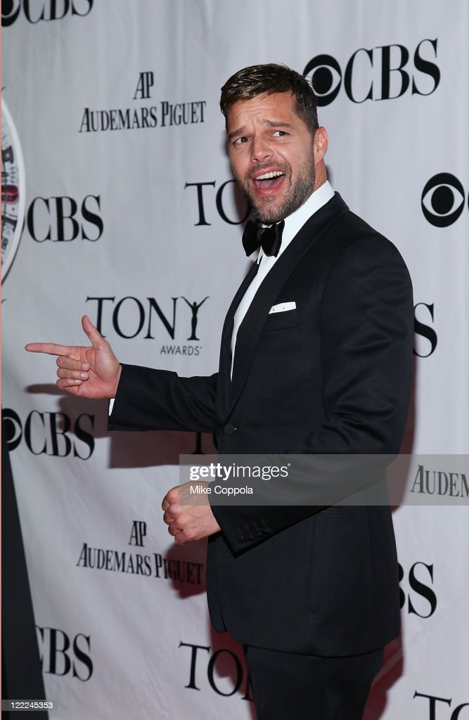 Singer/actor Ricky Martin attends the 64th Annual Tony Awards at Radio City Music Hall on June 13, 2010 in New York City.