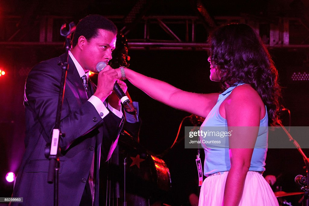 Singer/Actor Terrence Howard performs at The Beat The Chic Party at Bloomingdale's on September 3, 2008 in New York City