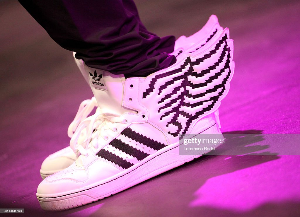 Singer/actor Tristan Wilds (shoe detail) performs onstage at the Music Matters presented by Nissan during the 2014 BET Experience At L.A. LIVE on June 28, 2014 in Los Angeles, California.