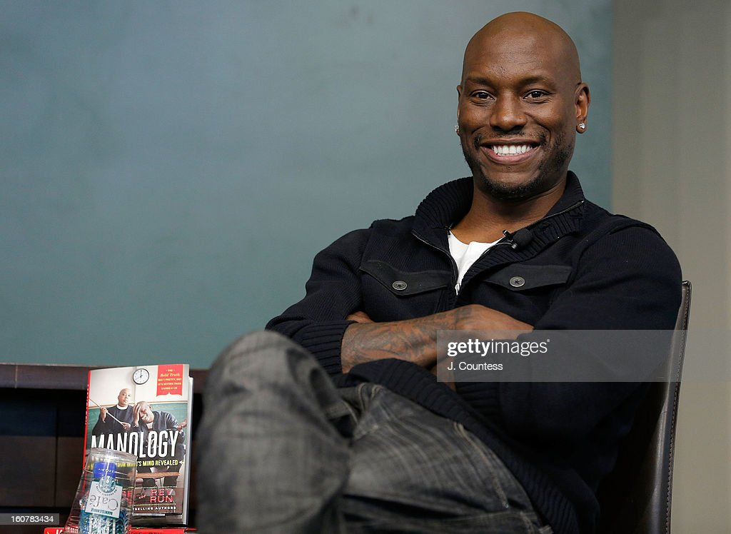 Singer/actor <a gi-track='captionPersonalityLinkClicked' href=/galleries/search?phrase=Tyrese&family=editorial&specificpeople=206177 ng-click='$event.stopPropagation()'>Tyrese</a> Gibson attends a book signing for the book 'Manology: Secrets of a Man's Mind Revealed' at Barnes & Noble Union Square on February 5, 2013 in New York City.