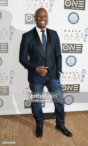 Singer/Actor Tyrese Gibson attends the 47th NAACP Image Awards Nominees' luncheon at The Beverly Hilton Hotel on January 23 2016 in Beverly Hills...