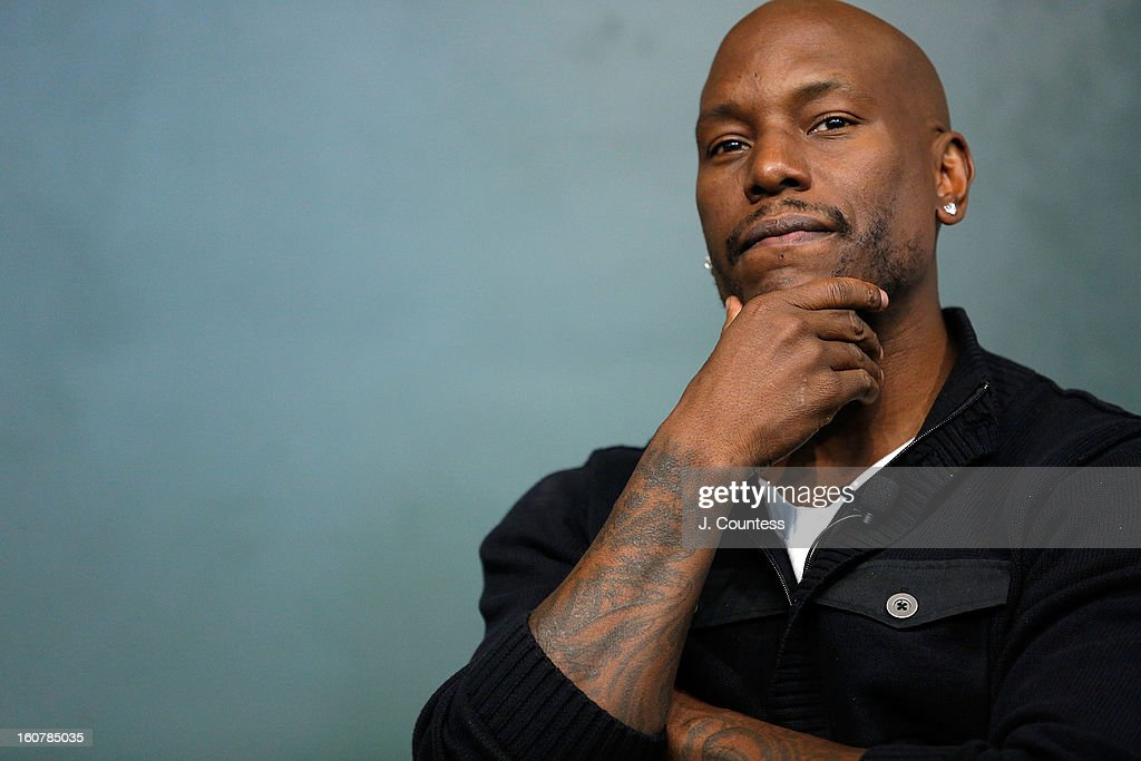 Singer/actor <a gi-track='captionPersonalityLinkClicked' href=/galleries/search?phrase=Tyrese&family=editorial&specificpeople=206177 ng-click='$event.stopPropagation()'>Tyrese</a> Gibson onstage during a book signing for the book 'Manology: Secrets of a Man's Mind Revealed'at Barnes & Noble Union Square on February 5, 2013 in New York City.