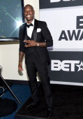 Singer/actor Tyrese Gibson poses in the press room during the BET AWARDS '14 at Nokia Theatre LA LIVE on June 29 2014 in Los Angeles California