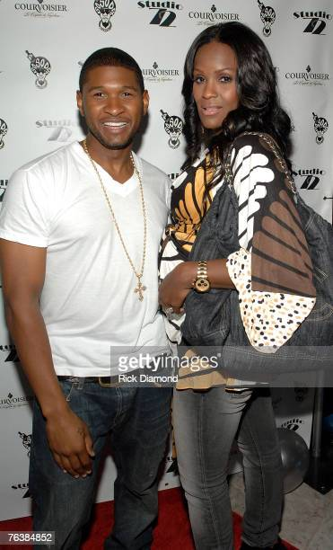 Singer/actor Usher and his wife Tamika Foster's arrive on The Red Carpet at the opening of Jermaine Dupri's Studio 72 in Tucker Georgia on August 29...