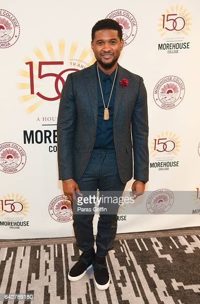 Singer/actor Usher Raymond attends Morehouse College 150th Anniversary 29th Annual 'A Candle In The Dark' Gala at The Hyatt Regency Atlanta on...