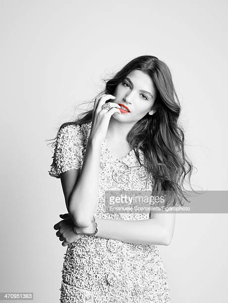 108609005 Singer/actress Alma Jodorowsky is photographed for Madame Figaro on January 8 2014 in Paris France Dress ring cuff PUBLISHED IMAGE CREDIT...