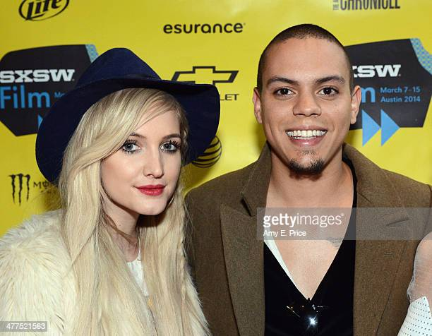 Singer/actress Ashlee Simpson and actor Evan Ross attend 'The Wilderness of James' Photo Op and QA during the 2014 SXSW Music Film Interactive...