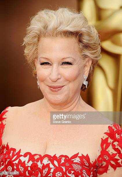 Singer/actress Bette Midler attends the Oscars held at Hollywood Highland Center on March 2 2014 in Hollywood California