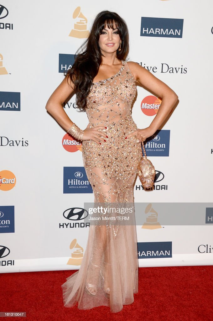 Singer/actress Bleona arrives at Clive Davis & The Recording Academy's 2013 Pre-GRAMMY Gala and Salute to Industry Icons honoring Antonio 'L.A.' Reid at The Beverly Hilton Hotel on February 9, 2013 in Beverly Hills, California.