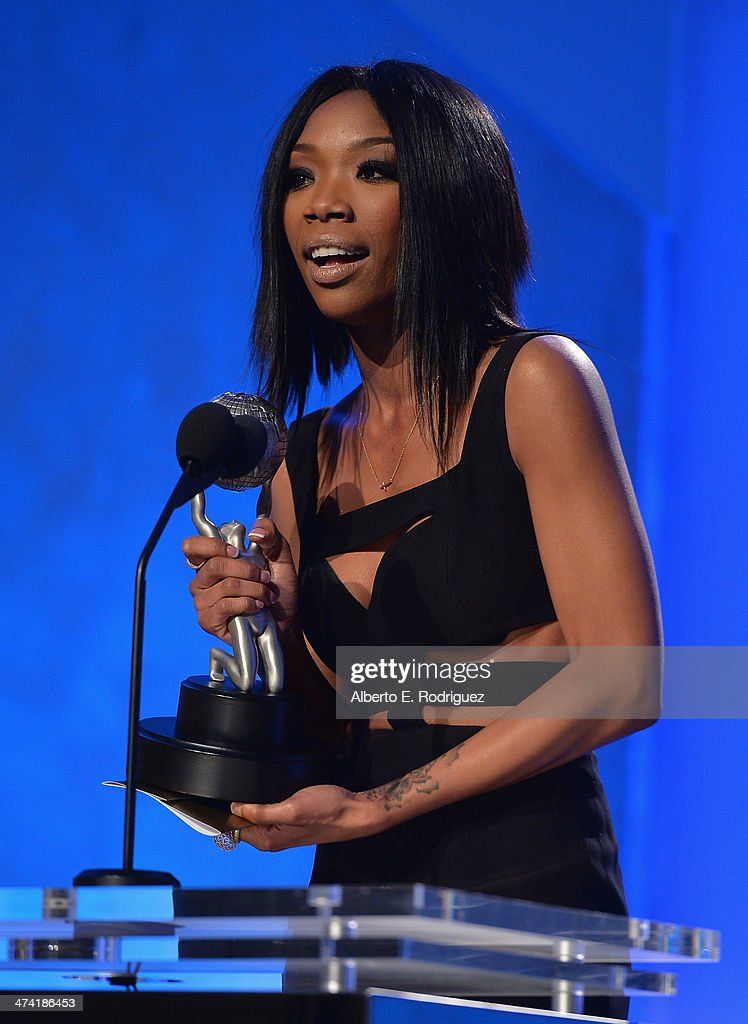 Singer/actress Brandy Norwood attends the 45th NAACP Awards Non-Televised Awards Ceremony at the Pasadena Civic Auditorium on February 21, 2014 in Pasadena, California.