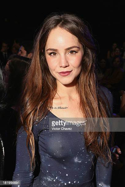 Singer/actress Camila Sodi attends the second day of MercedesBenz Fashion Week Mexico Spring/Summer 2014 at Campo Marte on September 26 2013 in...