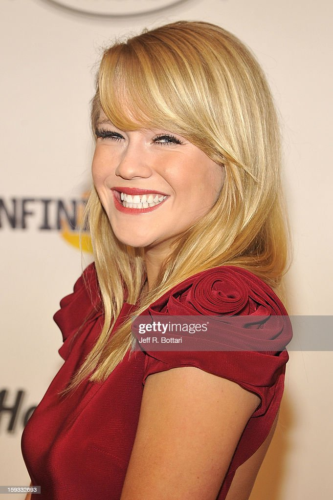 Singer/actress Carrie St. Louis from Rock of Ages arrives at the Fighters Only World Mixed Martial Arts Awards at the Hard Rock Hotel & Casino on January 11, 2013 in Las Vegas, Nevada.