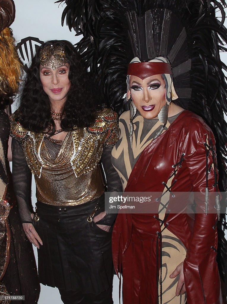 Singer/actress Cher and a drag queen attend Q Thursdays at Marquee on June 27, 2013 in New York City.