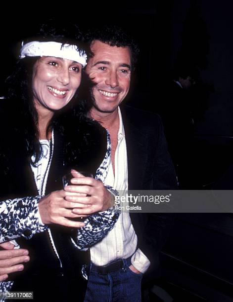 Singer/Actress Cher and producer David Geffen attend 'The Year of Living Dangerously' Culver City Premiere on January 26 1983 at the MGM Studios in...