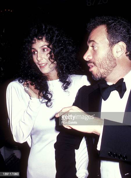 Singer/Actress Cher and producer David Geffen on February 1 1983 sighting at Le Dome Restaurant in West Hollywood California