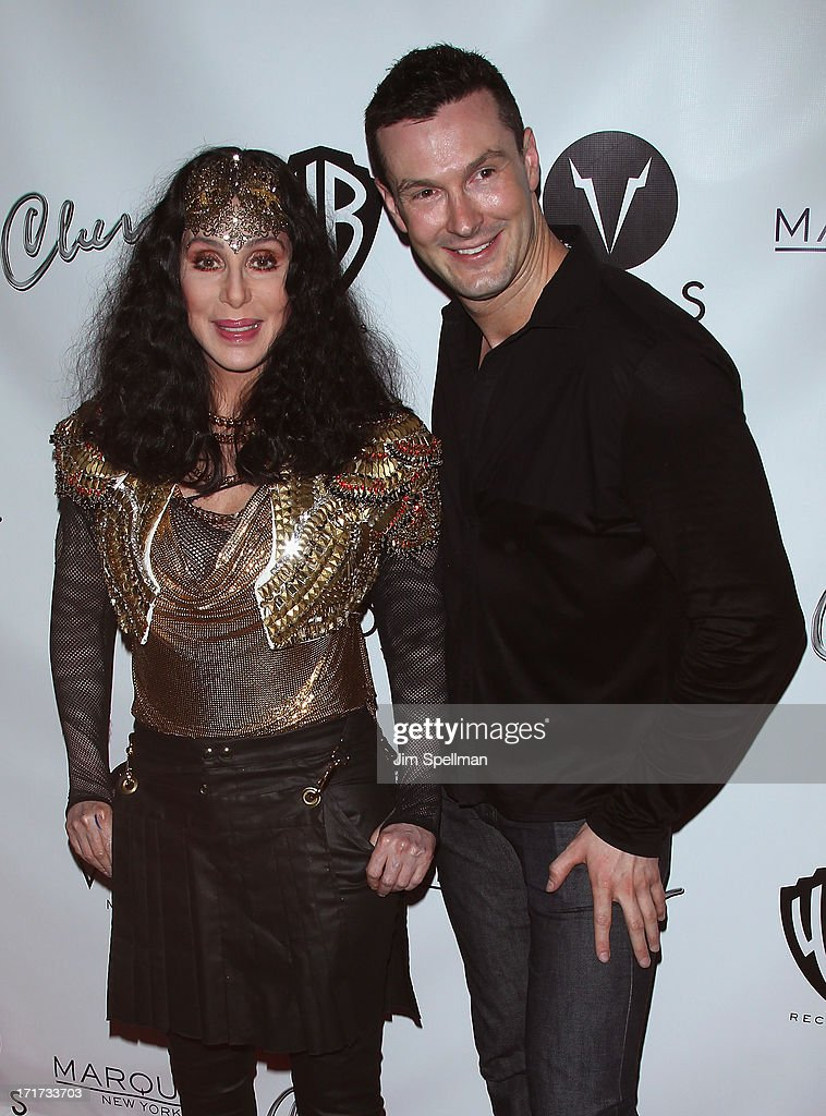 Singer/actress Cher and writer Brandon Voss attend Q Thursdays at Marquee on June 27, 2013 in New York City.
