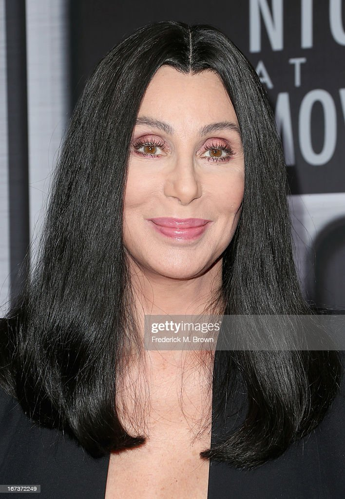 Singer/actress <a gi-track='captionPersonalityLinkClicked' href=/galleries/search?phrase=Cher+-+Performer&family=editorial&specificpeople=203036 ng-click='$event.stopPropagation()'>Cher</a> arrives on the red carpet for Target Presents AFI's Night at the Movies at ArcLight Cinemas on April 24, 2013 in Hollywood, California.