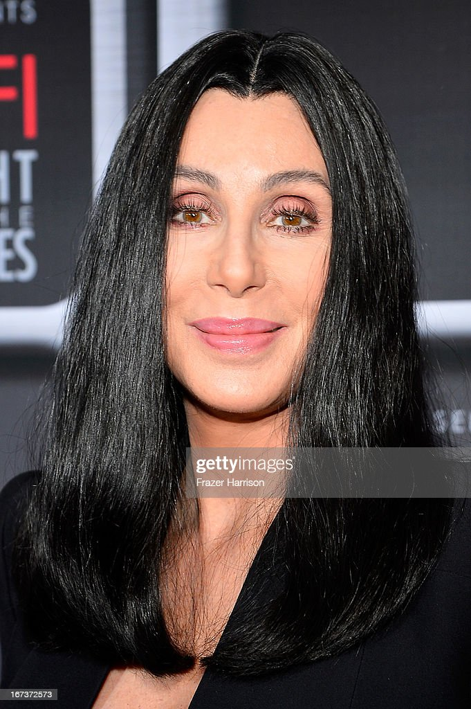 Singer/actress <a gi-track='captionPersonalityLinkClicked' href=/galleries/search?phrase=Cher+-+Artista&family=editorial&specificpeople=203036 ng-click='$event.stopPropagation()'>Cher</a> arrives on the red carpet for Target Presents AFI's Night at the Movies at ArcLight Cinemas on April 24, 2013 in Hollywood, California.