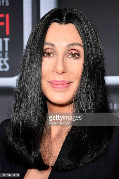 Singer/actress Cher arrives on the red carpet for Target Presents AFI's Night at the Movies at ArcLight Cinemas on April 24 2013 in Hollywood...