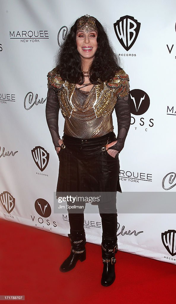 Singer/actress <a gi-track='captionPersonalityLinkClicked' href=/galleries/search?phrase=Cher+-+Performer&family=editorial&specificpeople=203036 ng-click='$event.stopPropagation()'>Cher</a> attends Q Thursdays at Marquee on June 27, 2013 in New York City.