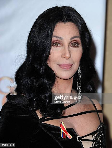Singer/actress Cher poses in the press room at the 67th Annual Golden Globe Awards at The Beverly Hilton Hotel on January 17 2010 in Beverly Hills...